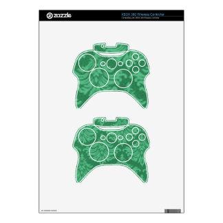 Retro Flourish Green Xbox 360 Controller Skins