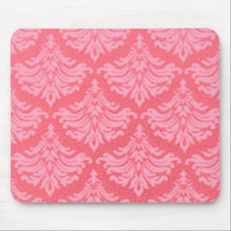 Retro Flourish Red Mouse Pad