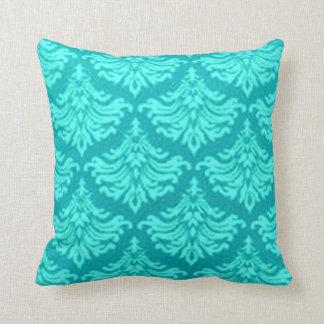 Retro Flourish Teal Pillows
