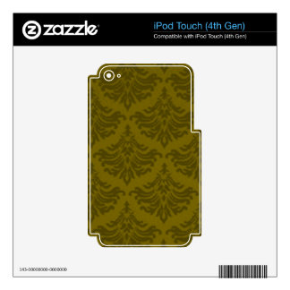Retro Flourish Woodland Green Decal For iPod Touch 4G