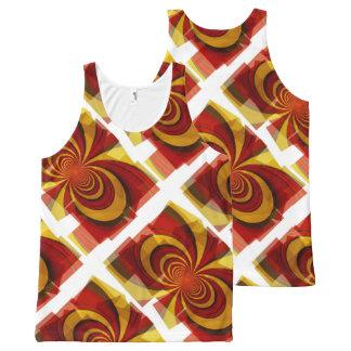 Retro Flower Abstract Art Unisex Tank Shirt All-Over Print Tank Top