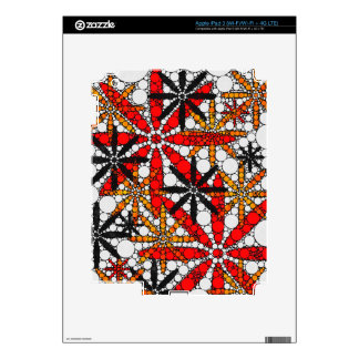 Retro Flower Abstract Skins For iPad 3