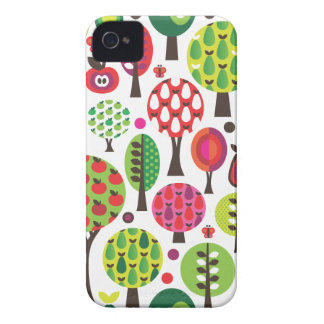 Retro flower apple butterfly pattern iphone case Case-Mate iPhone 4 cases