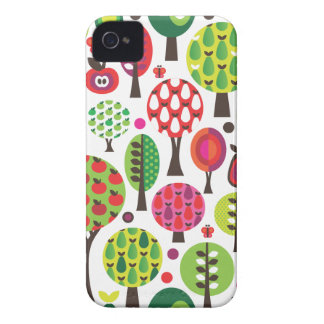 Retro flower apple butterfly pattern iphone case iPhone 4 Case-Mate cases