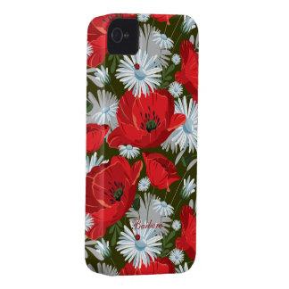 Retro Flower Blackberry Curve Speck Case iPhone 4 Case