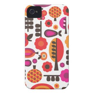 Retro flower butterfly pattern blackberry case