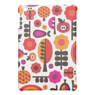 Retro flower butterfly pern  iPad mini cover