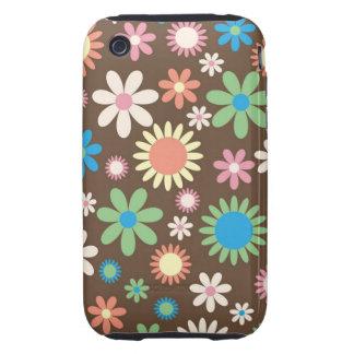 Retro Flower iPhone 3 Tough Case