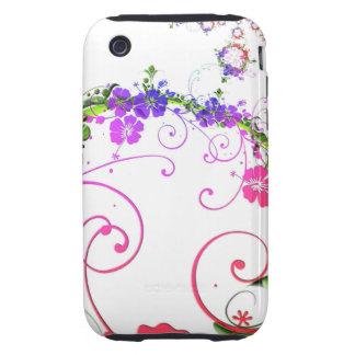Retro Flower iPhone 3 Tough Cases