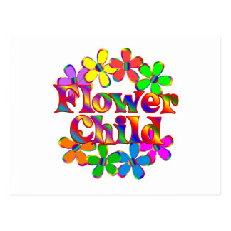Retro Flower Child Postcard