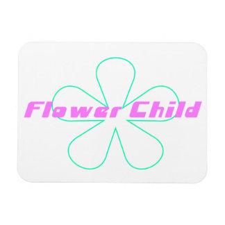Retro Flower Child Rectangular Photo Magnet