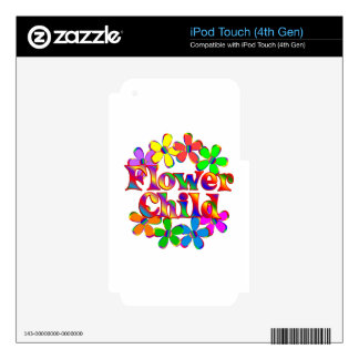 Retro Flower Child Decals For iPod Touch 4G