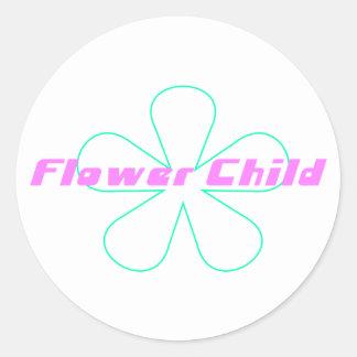 Retro Flower Child Stickers