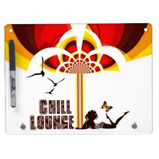 Retro Flower Chill Lounge Dry Erase Board