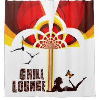 Retro Flower Chill Lounge Shower Curtain