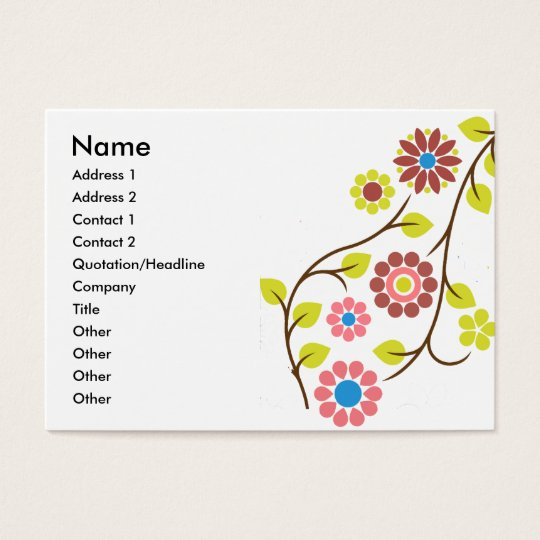 Retro Flower Contact Card