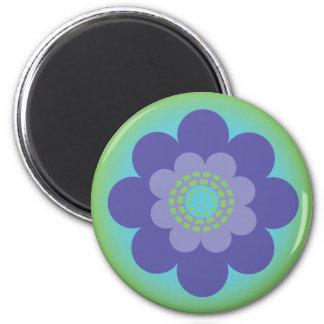Retro Flower Design Magnet