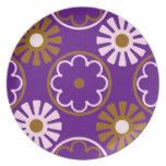 Retro Flower Design Plate