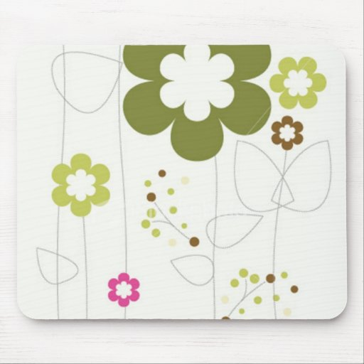 RETRO FLOWER MOUSE PADS
