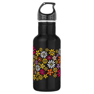 Retro Flower pattern 18oz Water Bottle