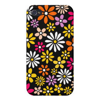 Retro Flower pattern Cover For iPhone 4
