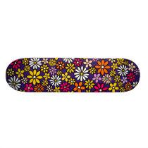 Retro Flower pattern Skateboard