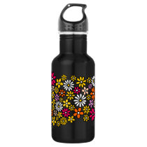 Retro Flower pattern Stainless Steel Water Bottle