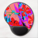 "retro flower pink gel mouse pad<br><div class=""desc"">this is customizable,  enjoy!</div>"