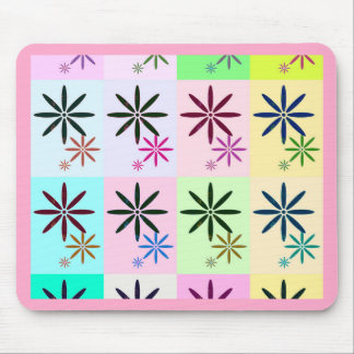 Retro Flower Pop Art Design Mouse Pad