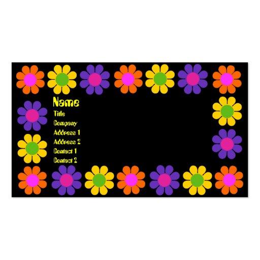 Retro Flower Power Business Card