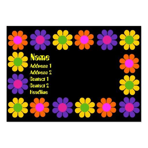 Retro Flower Power Business Card Template