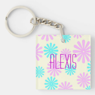 Retro Flower Power Keychain