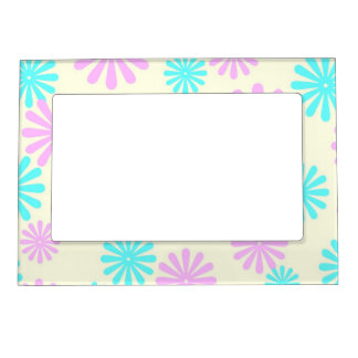 Retro Flower Power Magnetic Picture Frame