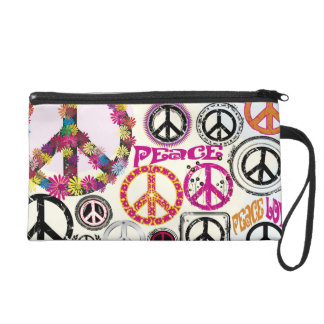 Retro Flower Power Peace Love Signs  Baggetes  Bag