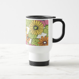 Retro Flower Power Travel Mug