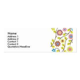 Retro Flower Profile Card Mini Business Card
