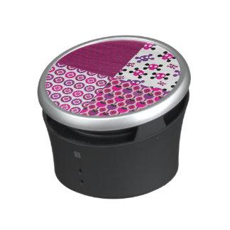 Retro flower skull polka dot bluetooth speaker