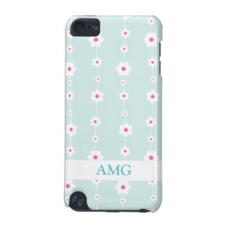 Retro Flower Strings Aquamarine and Pink iPod Touch (5th Generation) Case