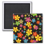 Retro Flower Wallpaper Refrigerator Magnets