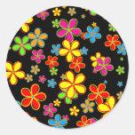 Retro Flower Wallpaper Sticker
