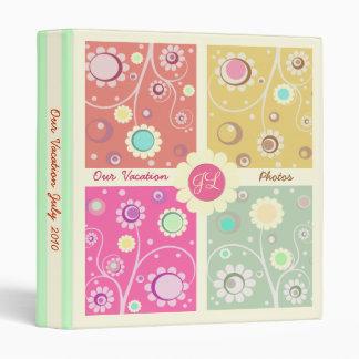 Retro Flowered Color Block Album Binder