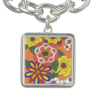 Retro Flowers 1960s Ink Hippie Vintage Charm