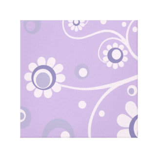 Retro Flowers Art Canvas Gallery Wrapped Print 2 Canvas Print