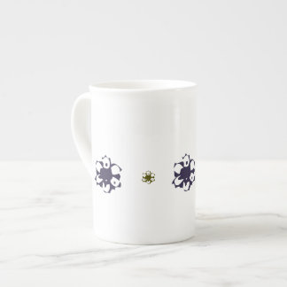 Retro Flowers Bone China Cup