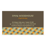 Retro!Flowers :: Brown, Orange, Beige Double-Sided Standard Business Cards (Pack Of 100)