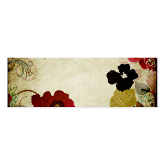 Retro flowers Business Card