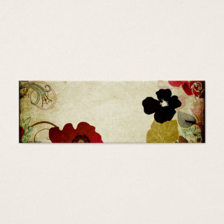 Retro flowers Business Card