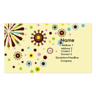 Retro flowers business card template