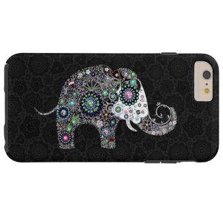 Retro Flowers & Colorful Diamonds Elephant Tough iPhone 6 Plus Case