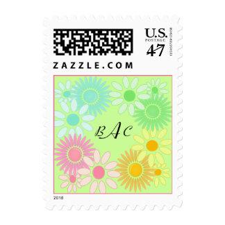 RETRO FLOWERS Crazy Daisy Daisies 60's 70's style Postage